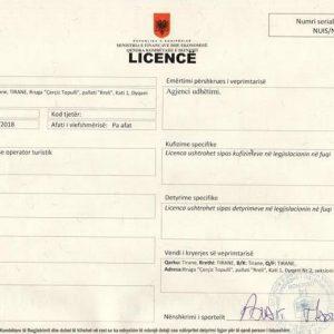 License agjenci turistike