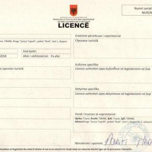 License operator turistik