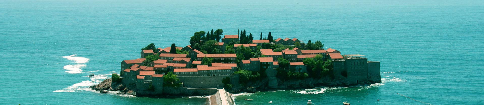 Montenegro, Sveti Stefan, Balkan trips,