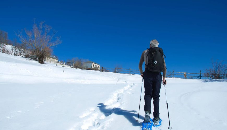snowshoeing to padesh village albania