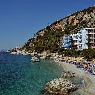 Albanian riviera beach