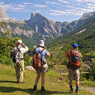 adventure walking in Northern Albania