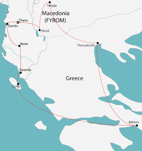 albania macedonia greece tour map e1519684965677