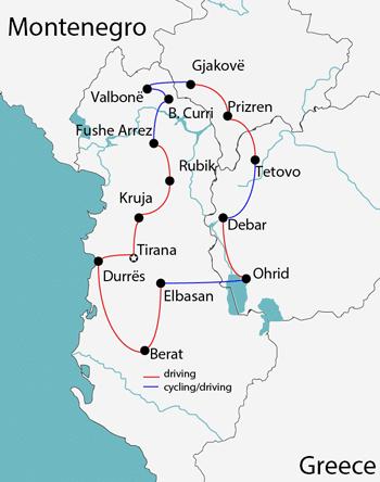 cycling in albania macedonia kosovo