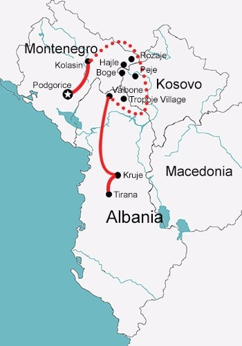Ski Touring in Montenegro Kosovo Albania