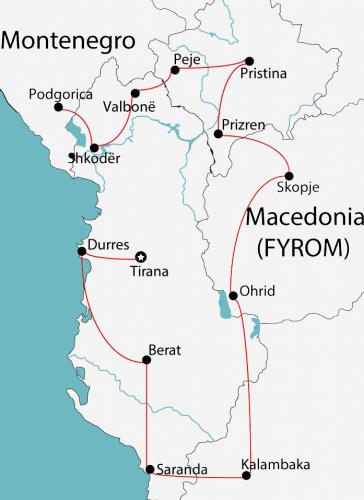 kosovo macedonia greece albania montenegro tour map e1520173713319