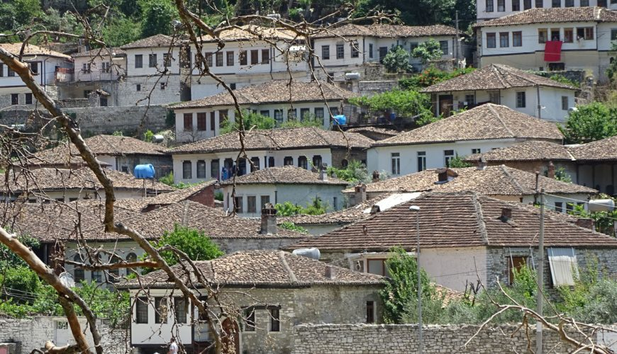 Gorica District from Across the River Berat Albania