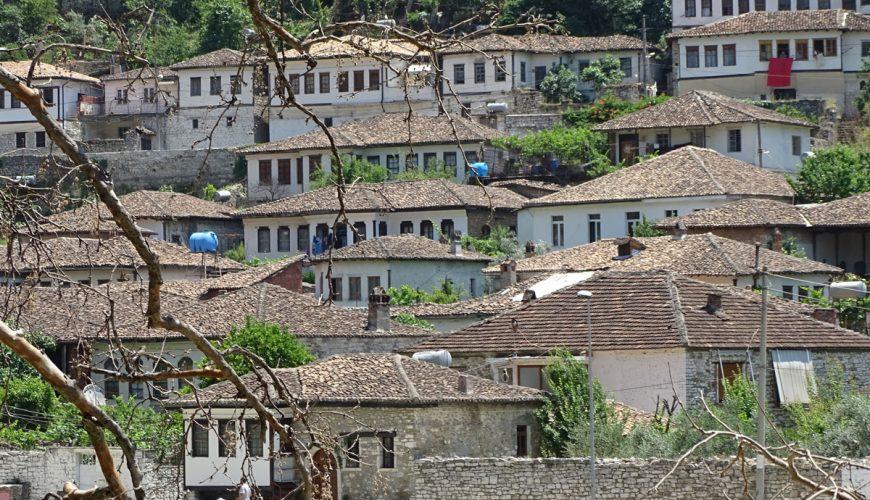 Gorica District from Across the River   Berat   Albania