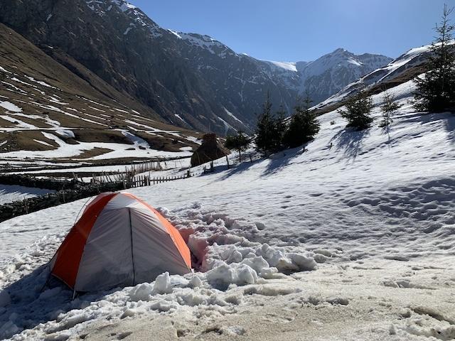 mountain hardware tent snow