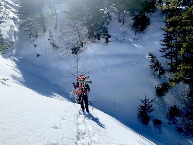 Snowshoeing through Montenegro