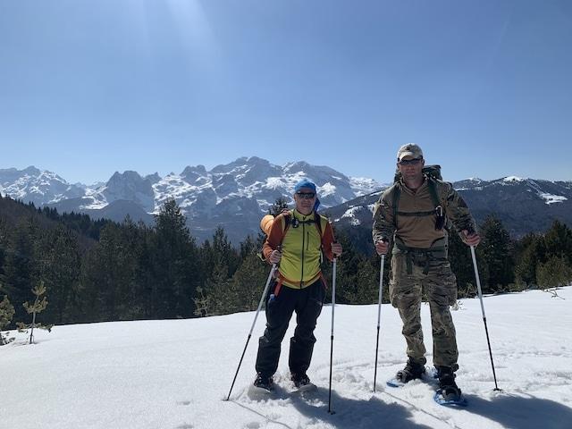 Snowshoeing to Cerem Village