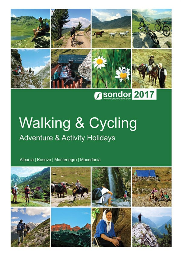 walking and cycling holiday brochure