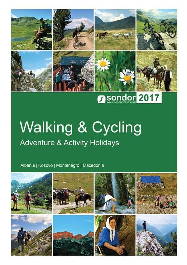 walking and cycling holiday brochure