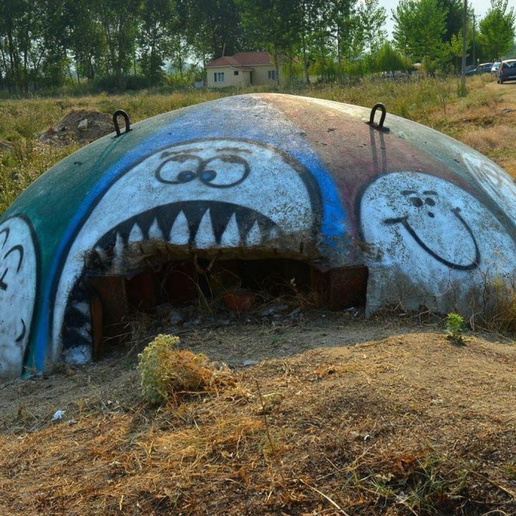 Funny looking concrete mushroom