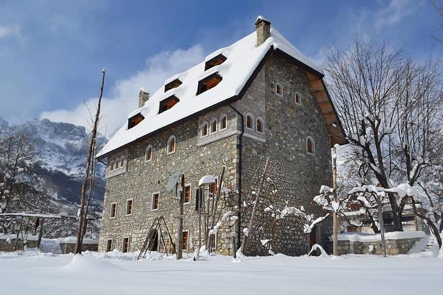 Winter guesthouses in the Albanian Alps