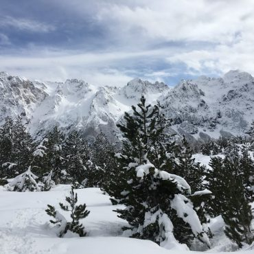 Snow in the Albanian Mountains