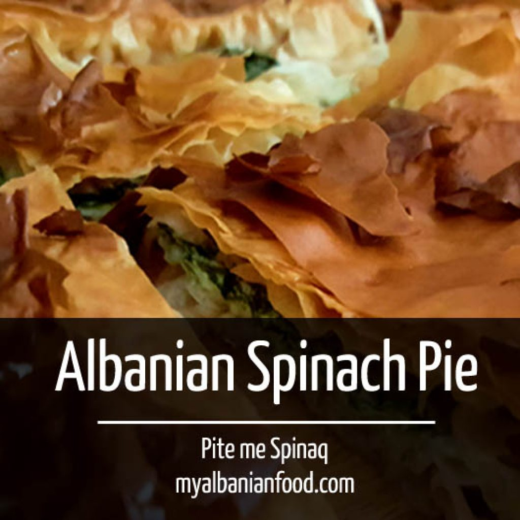 Albanian Spinach Pie Square Low